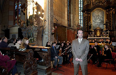 Johanns Passion (BWV 245) in St.-Gothards-Dom in Slaný, 2. 4. 2005